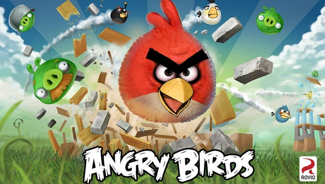 A screen shot of Angry Birds.