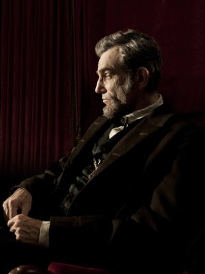 Daniel Day-Lewis portrays Abraham Lincoln in the film 'Lincoln.'