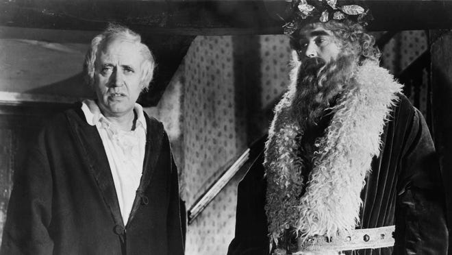 Alastair Sim, left, starred in the title role of the 1951 film 'Scrooge.'