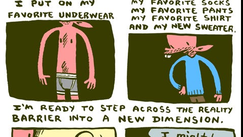 Here's James Kochalka's final 'American Elf' strip, which was posted yesterday.