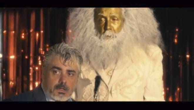 Alan Moore, right, goes for gold in his new short film.
