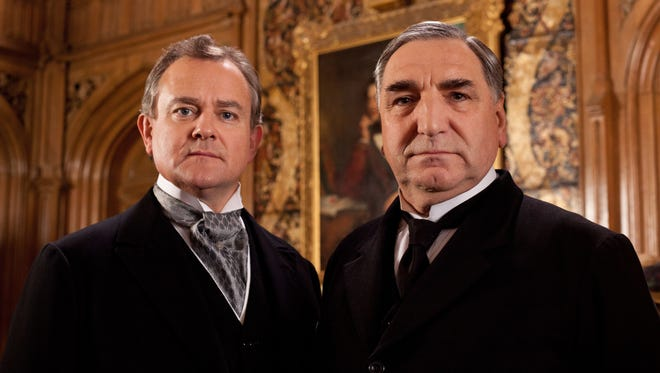Hugh Bonneville, left, and Jim Carter star in  'Downton Abbey.'