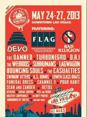 The Punk Rock Bowling festival takes place over Memorial Day weekend.