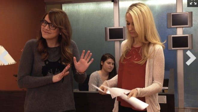 Sara Schaefer, left, and Nikki Glaser.