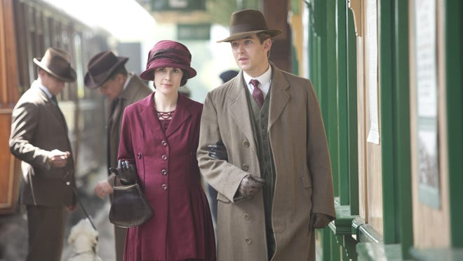 Lady Mary (Michelle Dockery) and Matthew Crawley (Dan Stevens) in Sunday's 'Downton Abbey' finale.
