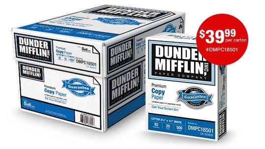 Quill.com will debut an ad for its Dunder Mifflin line of office products during the Academy Awards telecast.