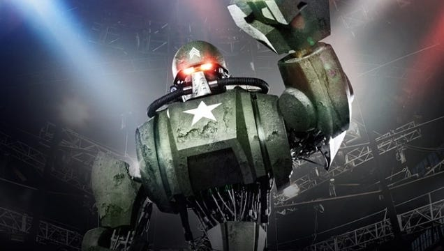 Here's one of the 'bots from the new Syfy series 'Robot Combat League.'