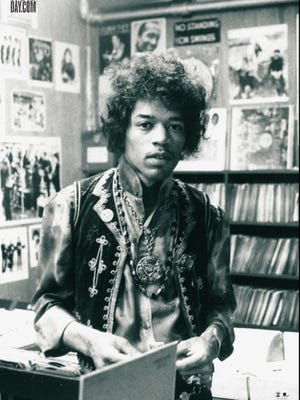 Jimi Hendrix appears on the official poster for Record Store Day 2013.