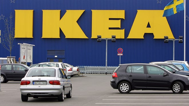 IKEA will be giving away umbrellas on Friday.