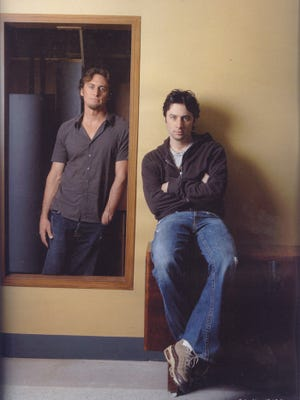 Brothers Adam Braff, left, and Zach Braff have launched a Kickstarter project.