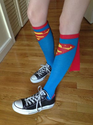 Check out these new Superman socks with capes.