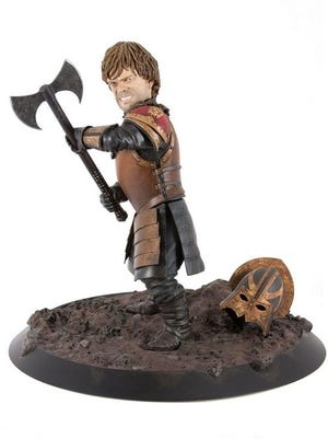 Here's a photo of Dark Horse's Tyrion statue, which we're giving away this week.