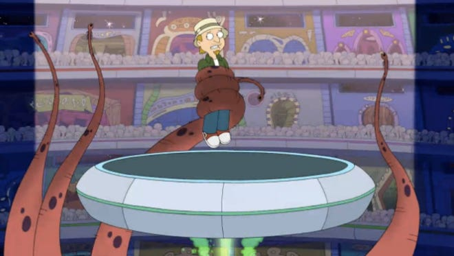 Here's a screen shot of Sunday's 'American Dad' episode, which features a bunch of music from the band Wax Fang.