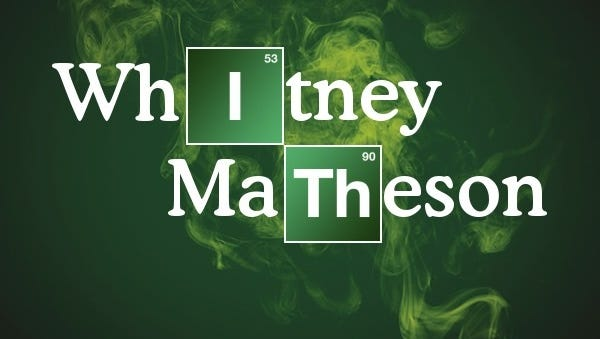 Here's an image of what my name looks like after being put through the 'Breaking Bad' name app.