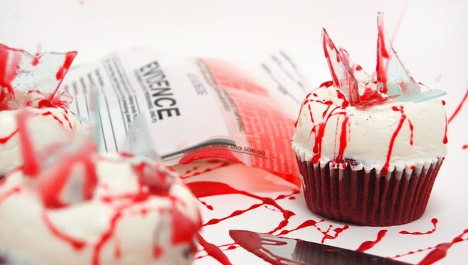 An image of a limited-edition 'Dexter' cupcake.