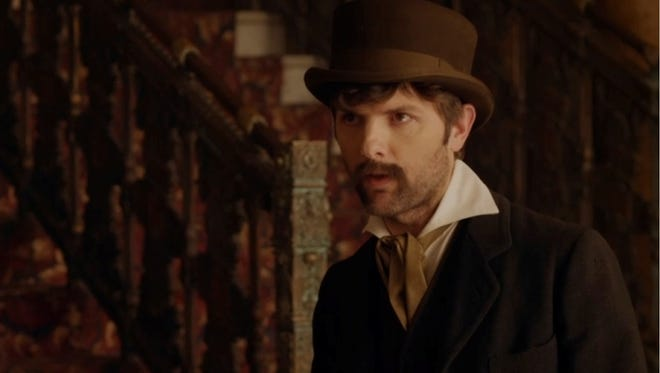 Adam Scott plays John Wilkes Booth on Comedy Central's 'Drunk History.'
