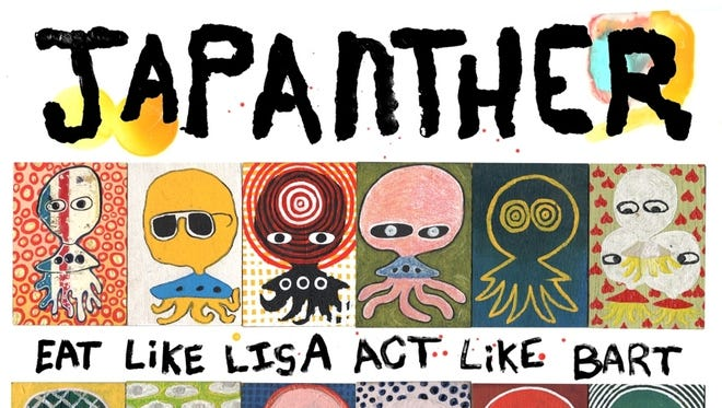 Japanther's new record is 'Eat Like Lisa Act Like Bart.'