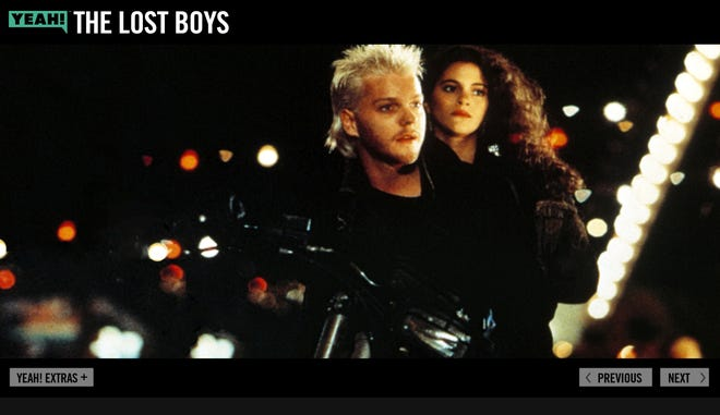 Here's a screen shot of YEAH!'s enhanced version of 'The Lost Boys.'
