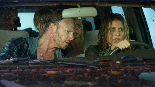'Sharknado' stars Ian Ziering and Tara Reid.