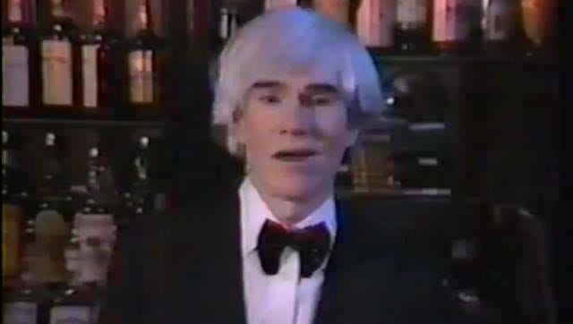Andy Warhol appeared in a video for The Cars' single 'Hello Again.'