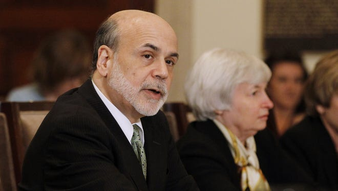Federal Reserve Chairman Ben Bernanke makes opening remarks at a meeting of the Federal Reserve Board of Governors at the Federal Reserve in Washington, Thursday, June 7, 2012.