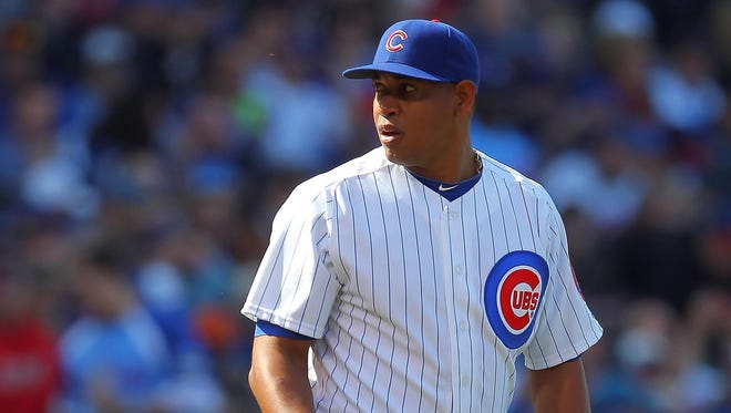 Carlos Marmol was 2-4 with two saves and a 5.86 ERA in 31 appearances this season.