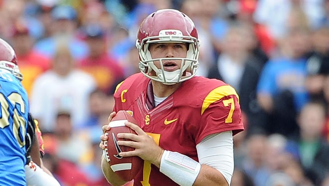 Former Southern California quarterback Matt Barkley was taken at the top of the fourth round by the Eagles.