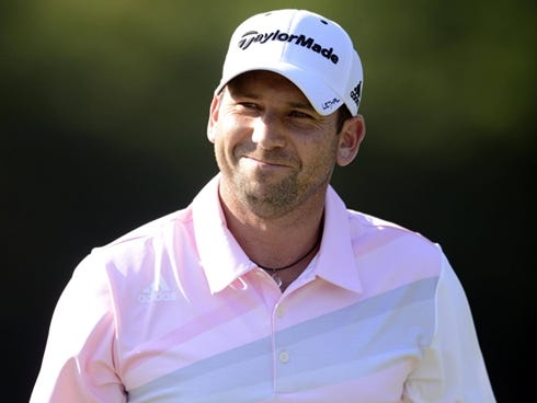 Golfer Sergio Garcia.