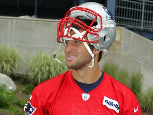 Patriots quarterback Tim Tebow has been vocal about wanting to be a quarterback, but his agreement to come to play where Tom Brady reigns supreme says differently.