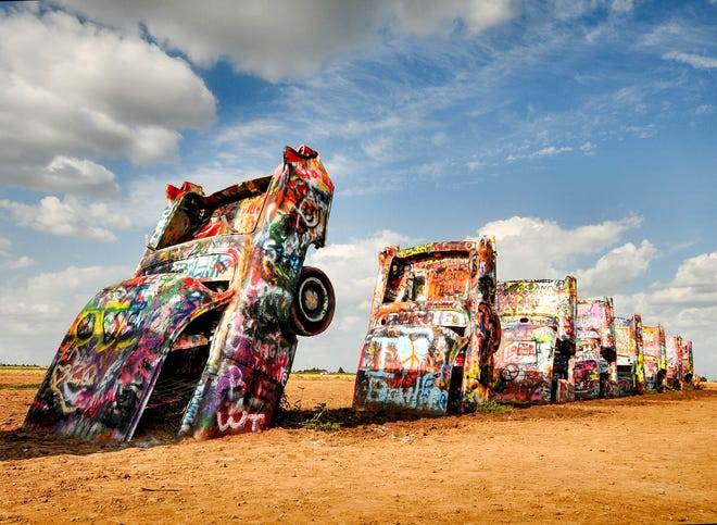 Cadillac Ranch in Amarillo, Texas is one of 20 nominees for Best Quirky Landmark.