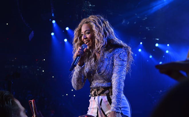 Beyonce performs on stage during 'The Mrs. Carter Show World Tour' at the American Airlines Arena on July 10 in Miami.