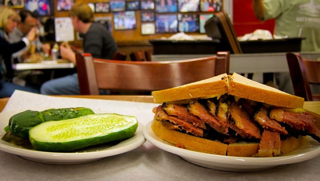 New Yorkers stand in line for a good pastrami sandwich day in and day out.