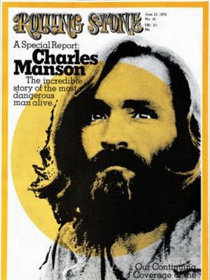 Cult leader Charles Manson on the June 15, 1970 cover of 'Rolling Stone'.