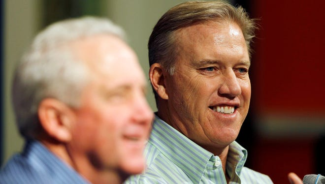 Until recently, the Broncos' offseason under John Elway and John Fox, left, had gone swimmingly.