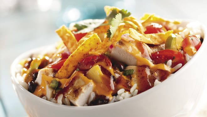One of the new menu offerings at KFC's upscale restaurants: the Caribbean rice bowl.