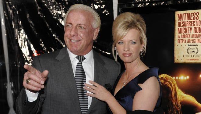 Ric Flair and his then girlfriend Jackie in happier times in 2008.
