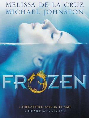 Book cover of 'Frozen' by Melissa de la Cruz and Michael Johnston.