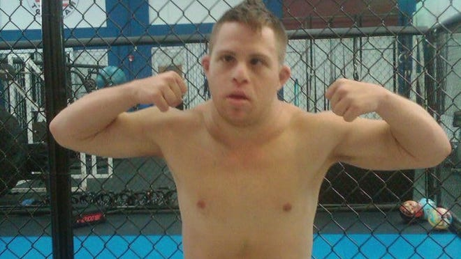 "Garrett ""?G-Money?"" Holeve of Immokalee, Fla.,  is an MMA fighter who has Down syndrome. He will meet David Steffan in a full-contact MMA bout in Florida"
