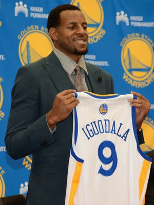 Andre Iguodala is happy now that he's with the Warriors.