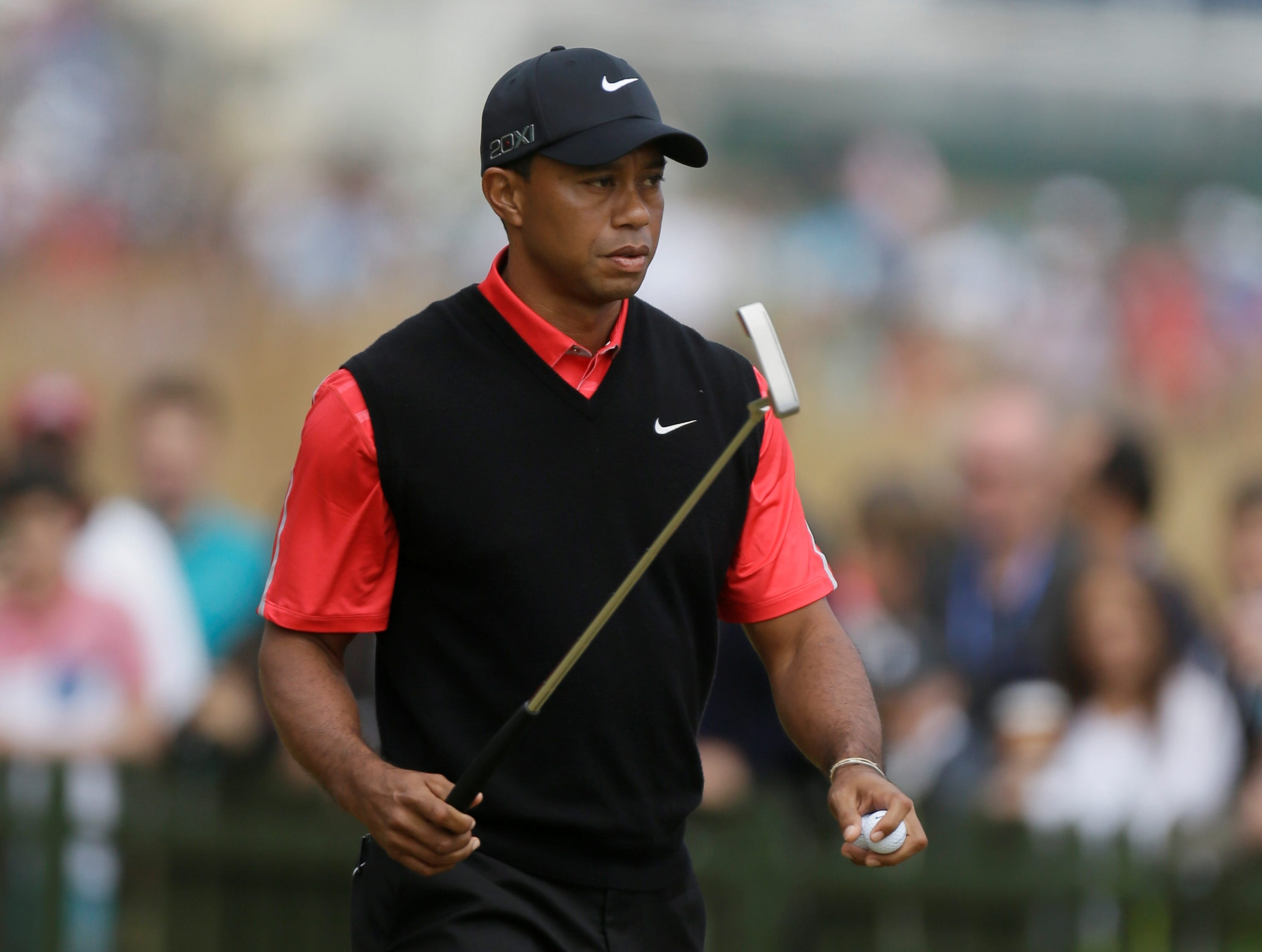 british open  woods fades  mickelson wins
