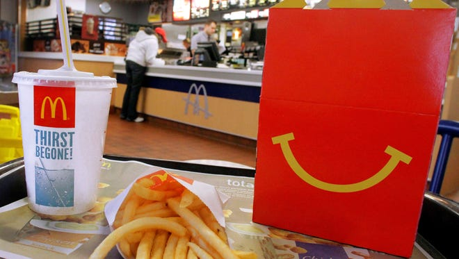 McDonald's reported quarterly earnings of $1.4B or $1.38 a share, missing Wall Street estimates by 2 cents.