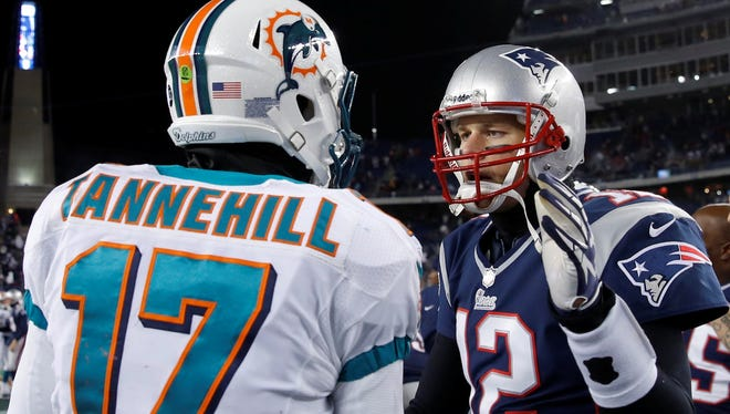 Tom Brady (12) and the Patriots ended the Dolphins' 2012 season with a 28-0 defeat.