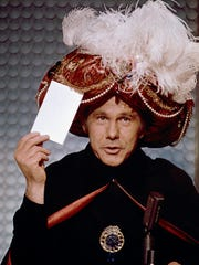 "Part of James Comisar's collection includes the turban Johnny Carson wore as Carnac the Magnificent on ""The Tonight Show."""
