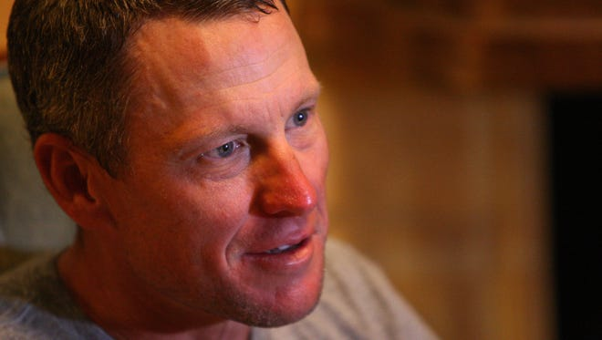 Lance Armstrong sat down for an interview with Des Moines Register columnist  Bryce Miller at the Hotel Pattee on Monday.