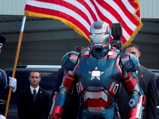 """Marvel's Iron Man 3""Iron PatriotPh: Zade Rosenthal© 2012 MVLFFLLC.  TM & © 2012 Marvel.  All Rights Reserved."