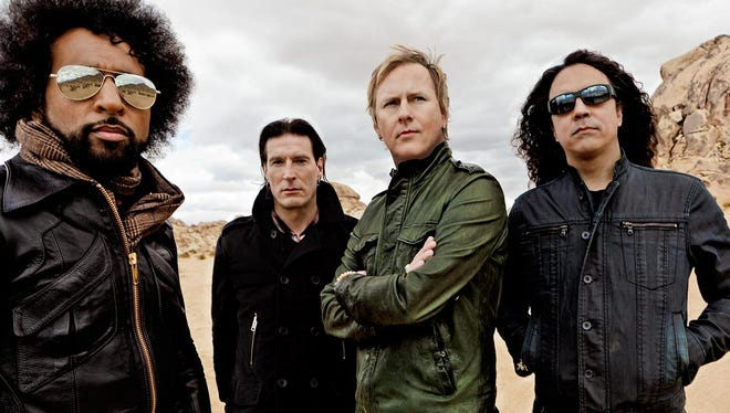 Grunge-rock band Alice in Chains, from left, William Duvall, Sean Kinney, Jerry Cantrell and Mike Inez.