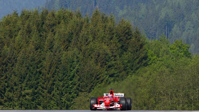 In this photo from 2003, Brazilian driver Rubens Barrichello races at the Spielberg track. Formula One will return to Austria in July 2014 after an 11-year break from the circuit.