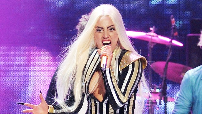 Lady Gaga performs at the Prudential Center in Newark, N.J. in 2012.