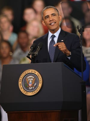 President Obama addresses the state of the economy during a speech at Knox College.