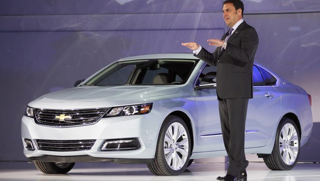 Mark Reuss, President of General Motors North America, introduces the newly unveiled 2014 Chevrolet Impala at the New York International Auto Show in 2012